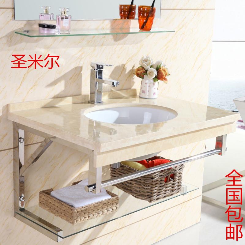 壁式の手洗器のトイレの小さい部屋型の洗面器の大理石を掛けて洗面器の組合せを洗って洗面台の洗面器を洗います