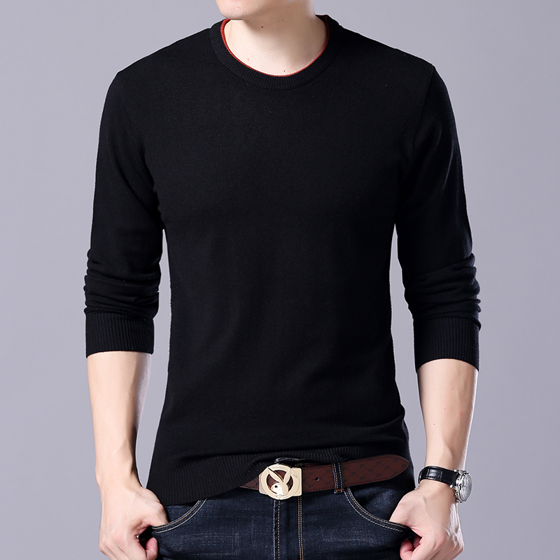 Fattening mens sweater extra large 300kg fat guy thin cashmere sweater middle-aged and young mens knitted sweater