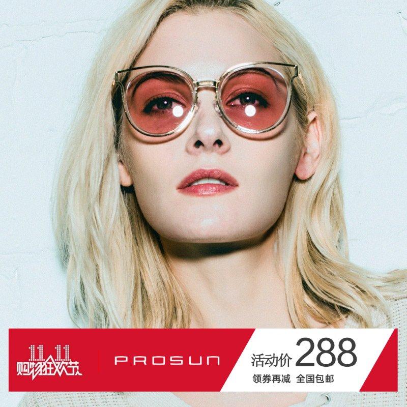 新款保圣偏光太阳镜女韩版时尚透明框大脸显小墨镜可配近视PS6005