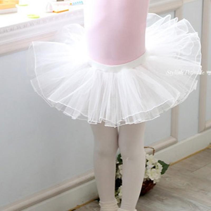 Childrens dancing half body gauze skirt fluffy Skirt Ballet practice short skirt purple pink white girl dancing mesh skirt