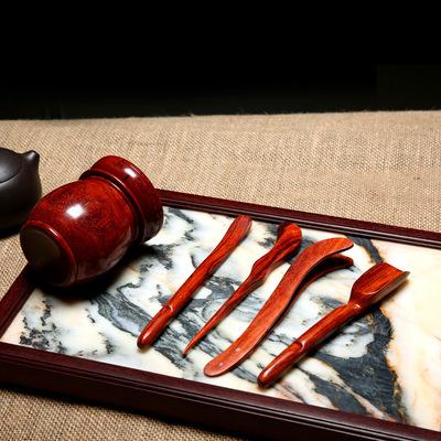 舒饰屋 印度小叶紫檀【茶道四君子】高密鸡血红大料 茶道用具