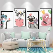 3D立体客厅墙面房间卧室北欧风壁画贴纸自粘沙发背景墙装饰墙贴画