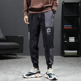 特色大口袋系绳灯芯绒休闲生男装裤