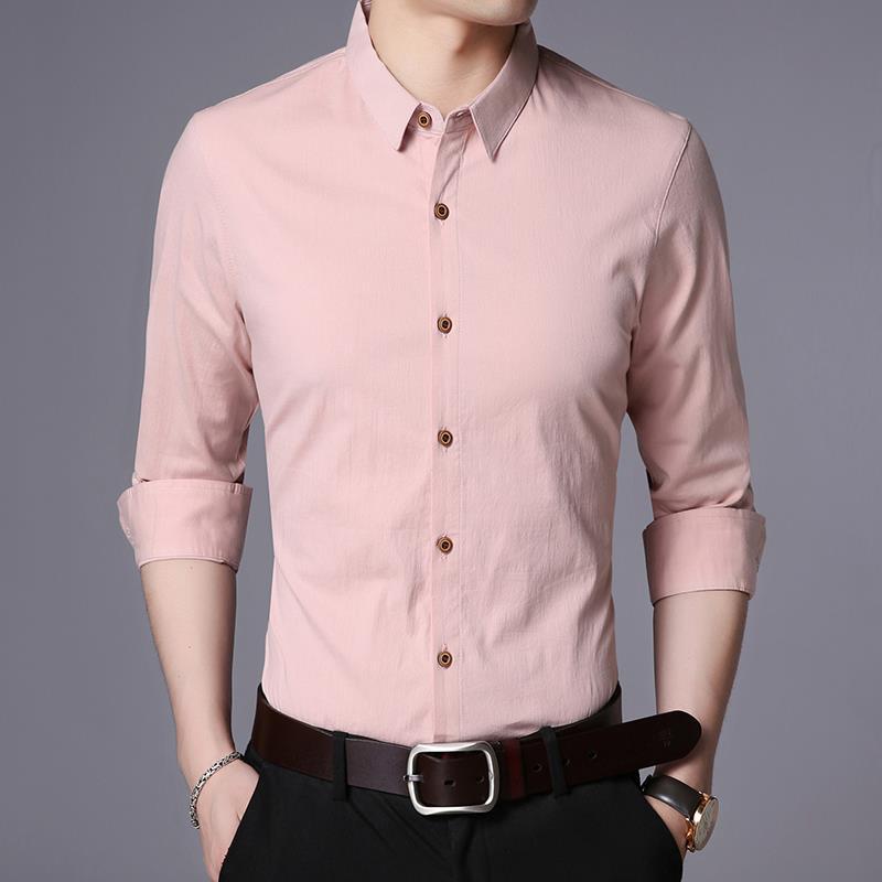 正品诺恩男士纯色时尚衬衫 韩版修身条纹个性百搭风男上衣休闲装