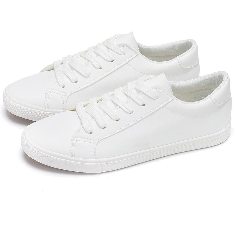 春夏新款秋天平板百搭2019年显脚小的潮小白鞋平底韩版时尚女鞋子
