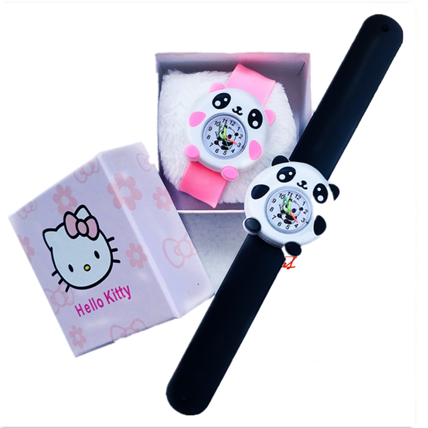 2020 new childrens electronic cute cartoon watch animal page panda real watch for boys and girls