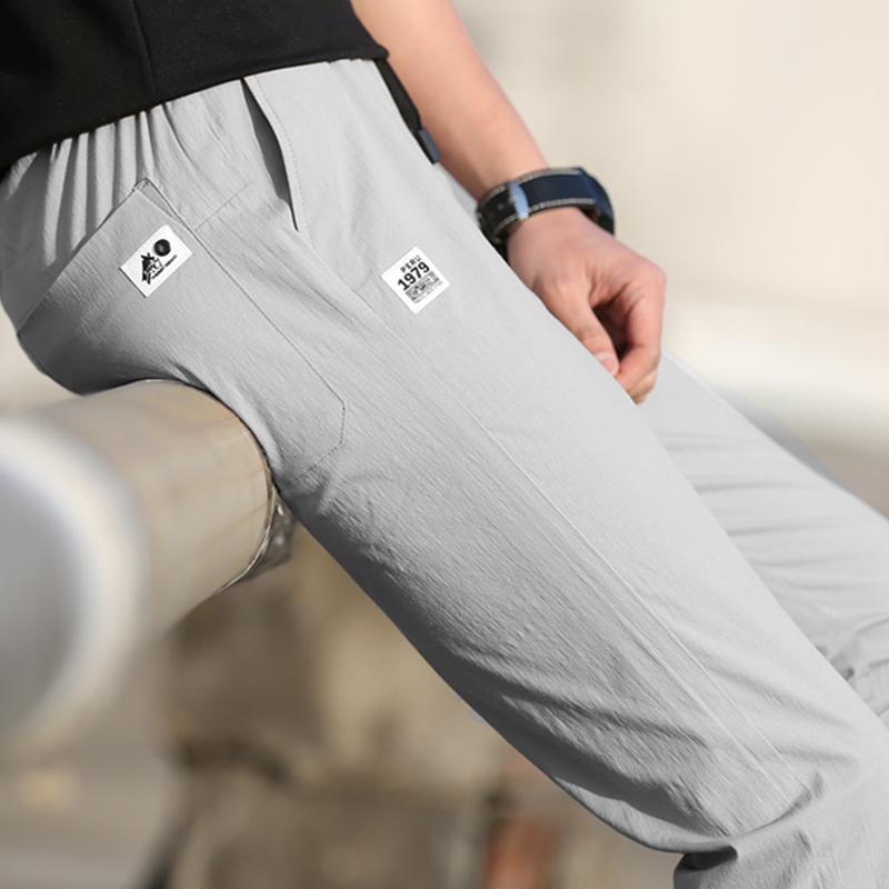Спортивные наружные весенние и летние быстросохнущие брюки мужской Тонкий и легкий стиль брюки водонепроницаемый воздухопроницаемый эластичные Солнцезащитные штаны походные штаны