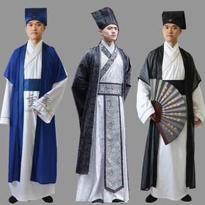 古装汉服男书生夫子中国风秀才装江南才子长袍古代衣服表演出服饰