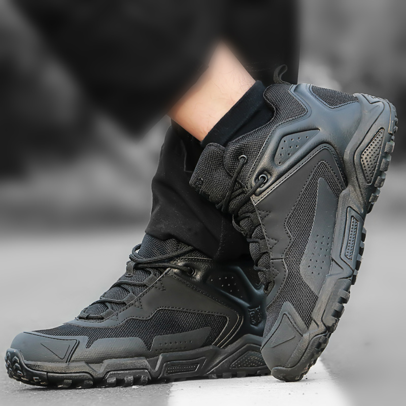 Outdoor mountaineering shoes, mens military boots, special forces combat boots, low top desert boots, tactical boots, army shoes