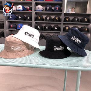 韩国mlb帽子专柜正品19夏季新款渔夫帽ins风百搭男女款洋基队盆帽