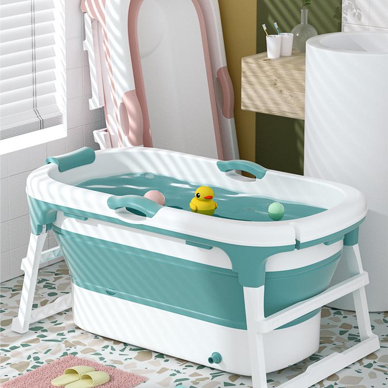 ALCOCO婴儿游泳池家用成人折叠浴桶儿童泡澡桶加大号新生儿宝宝洗
