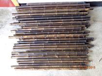 加工定做不带根黑老虎笛子料洞箫材料九节紫竹箫材料