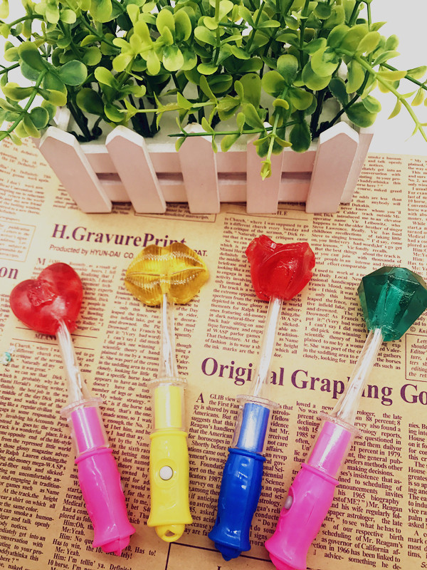 Upgrade new LED colorful flash double light lollipop night bar KTV bright candy package mail 50