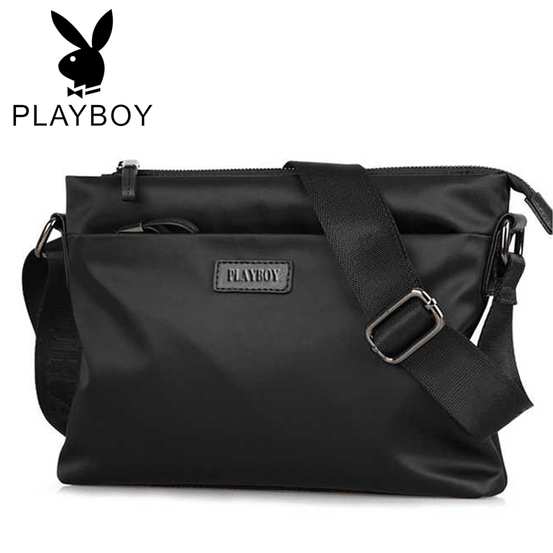 Playboy handbag Oxford fabric leisure messenger bag mens shoulder bag business briefcase travel bag man