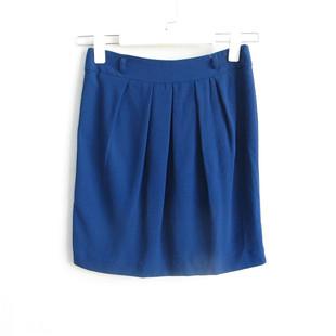 好俪姿honeys女装专柜正品27C322纯色褶皱短裙半身裙595216989