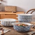 日式双耳家用复古陶瓷大盆大汤碗盆