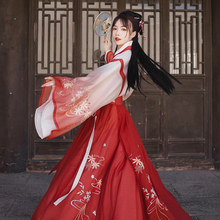 Back to the Han and Tang Dynasties Fengluo Hanfu Women's Autumn Heavy Industries Embroidery Blouse, Broken Skirt Suit, Jin-made waist-length Skirt