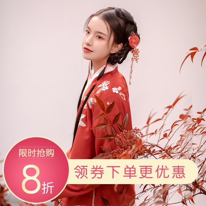 重回汉唐秋怡原创中国风传统汉服女明制交领袄裙秋冬季日常非古装