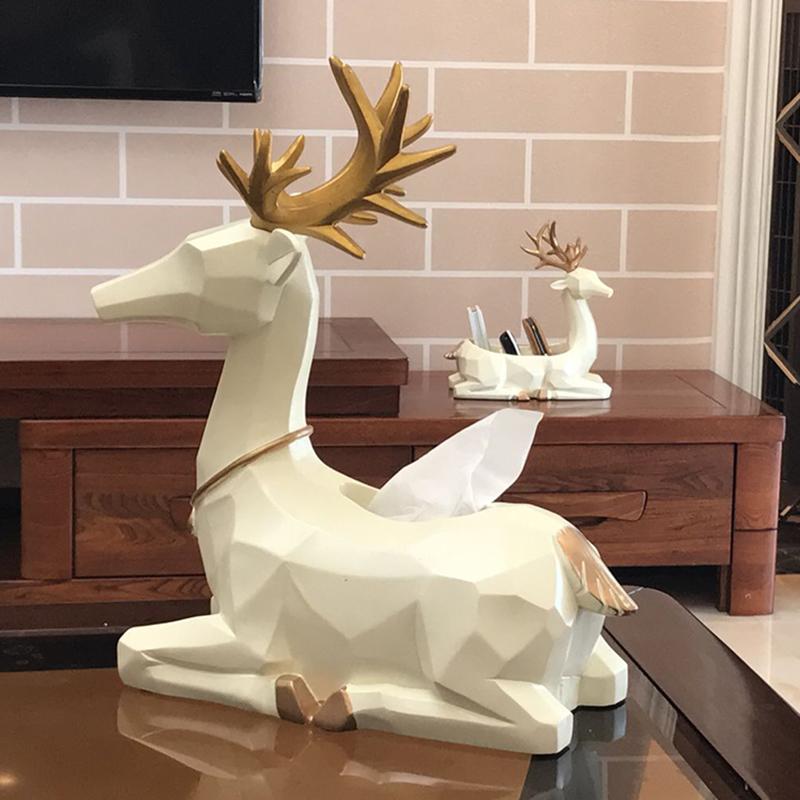 Творческий нордический стиль декоративный ткань простой современный пульт в коробку олень гостиная украшение насосные коробка