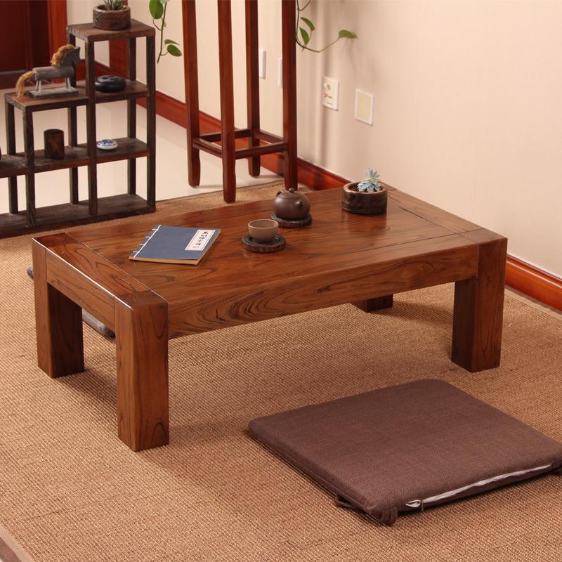老榆木实木榻榻米日式飘窗炕桌