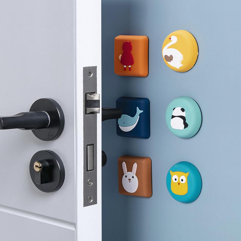 门把手防撞垫防磕碰门后防撞器门锁冰箱开门静音硅胶保护垫防撞贴
