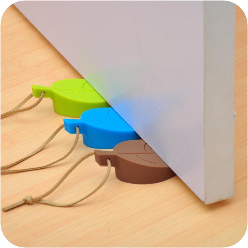 6019  创意树叶形状门挡儿童防夹手安全门卡实心关门静音可挂门塞