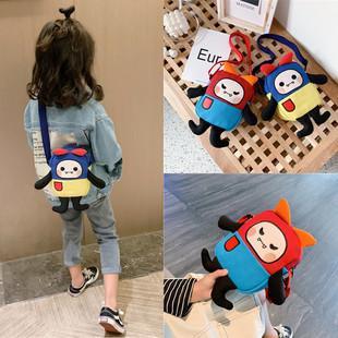 男女童帆布小包包韩国儿童单肩斜挎包卡通零钱包宝宝小背包配饰包