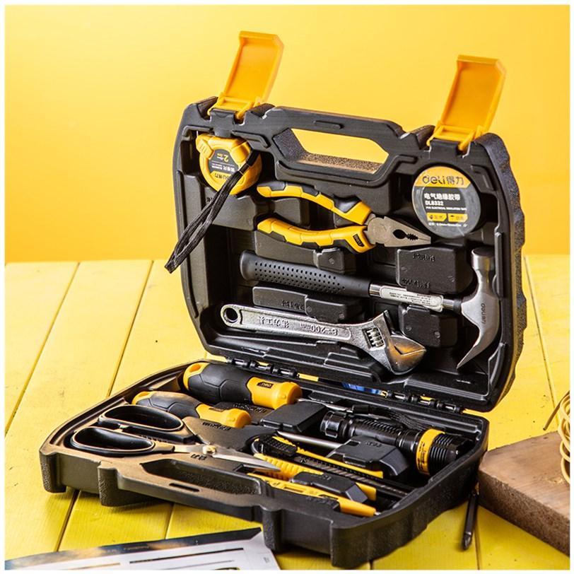 多功能家用工具箱五金工具电工手动综合维修组套车载套装11件