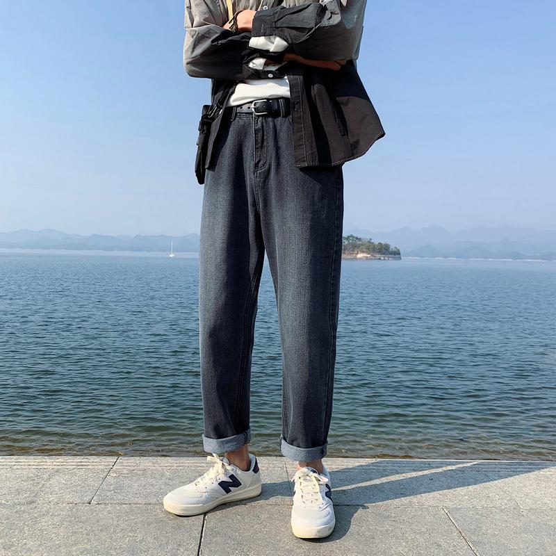 青少年12休闲裤13春季14岁男孩大童15直筒宽松牛仔裤16初中学生潮