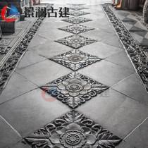 景澜砖雕唐莲仿古砖雕中式庭院室内装饰青砖地砖古建筑材料影壁墙