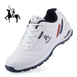 保罗内增高跑步鞋男士透气休闲皮鞋