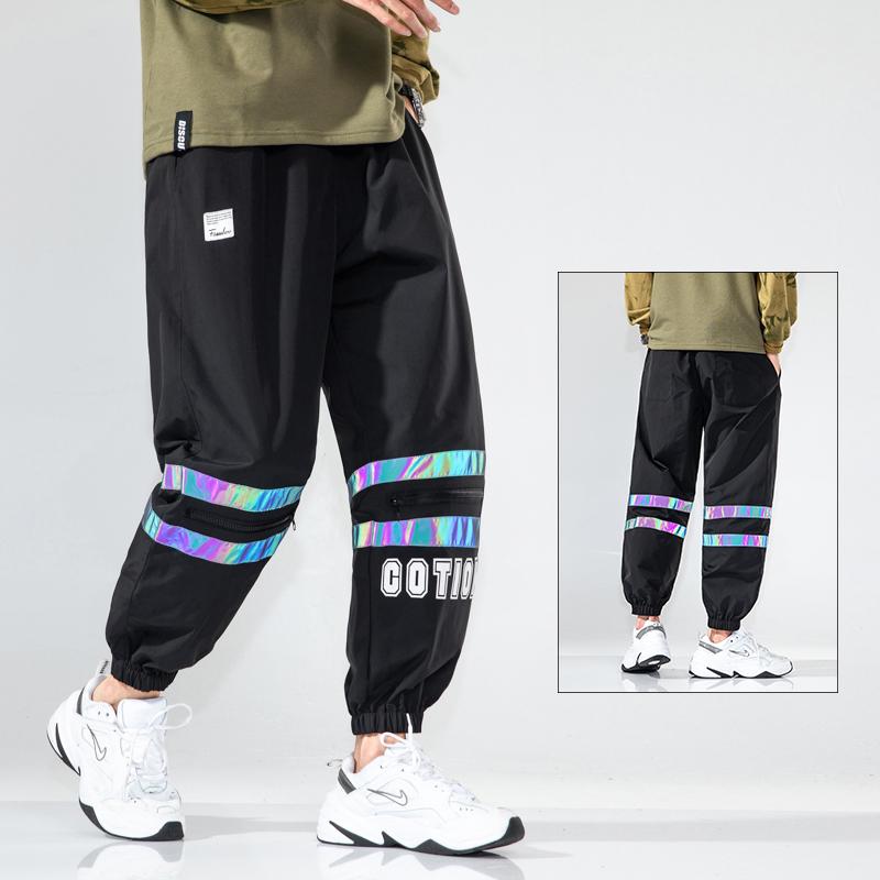 2020 秋季休闲裤男嘻哈运动宽松束脚裤A071-1-K325-P55控78