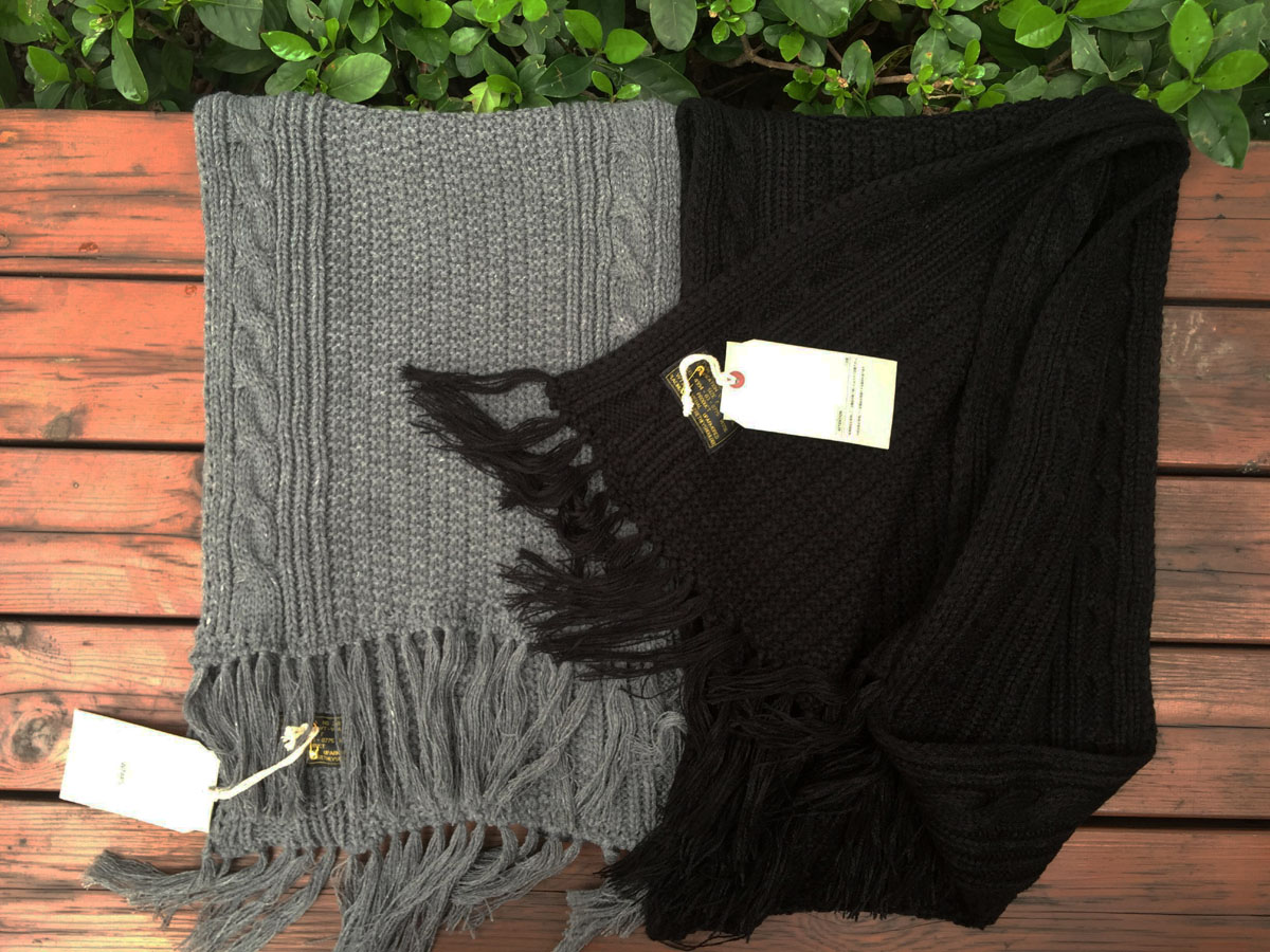 Yu wenle scarf wtaps the same mens and womens Japanese fashion brand winter wool autumn winter manual thick thread scarf