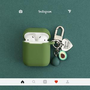 牛油果适用airpods保护套韩国ins挂件苹果无线蓝牙耳机硅胶盒子壳