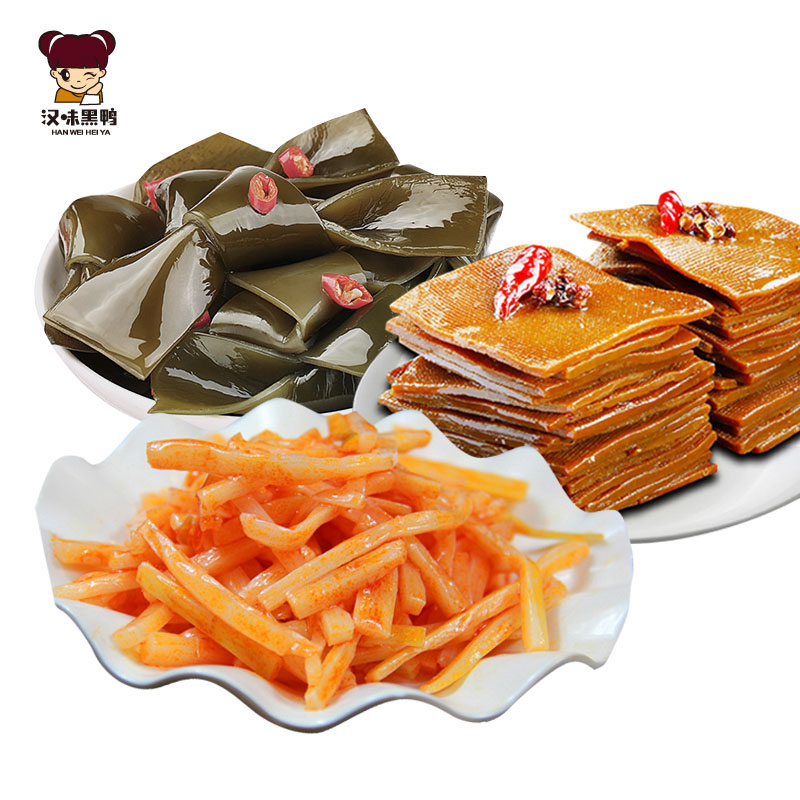 Wuhan specialty tofu dried kelp and shredded bamboo shoots 100gx3
