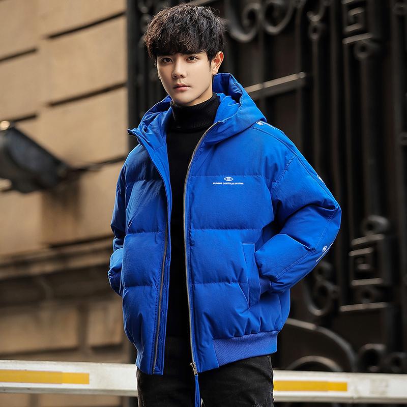 W男士羽绒服潮冬季新款青年中长款外套防风加厚男装帅气白鸭绒919