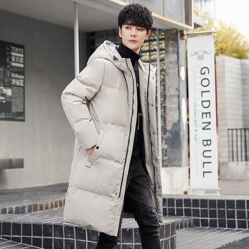 W羽绒服男冬季新款韩版潮流冬天加厚保暖男装连帽中长款外套潮931