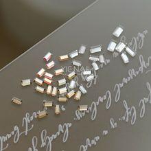 GSHA烫金平底迷你水晶钻小长条形美甲DIY钻饰正品施华洛世奇2510