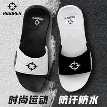 705474343880耐克拖鞋男黑武士鸳鸯沙滩鞋白字母忍者运动凉拖女