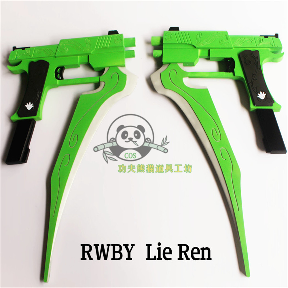 Rwby lie Ren / lie · Lian / hunting blade / split blade jade dragon weapon double spear Cosplay props cannot be fired