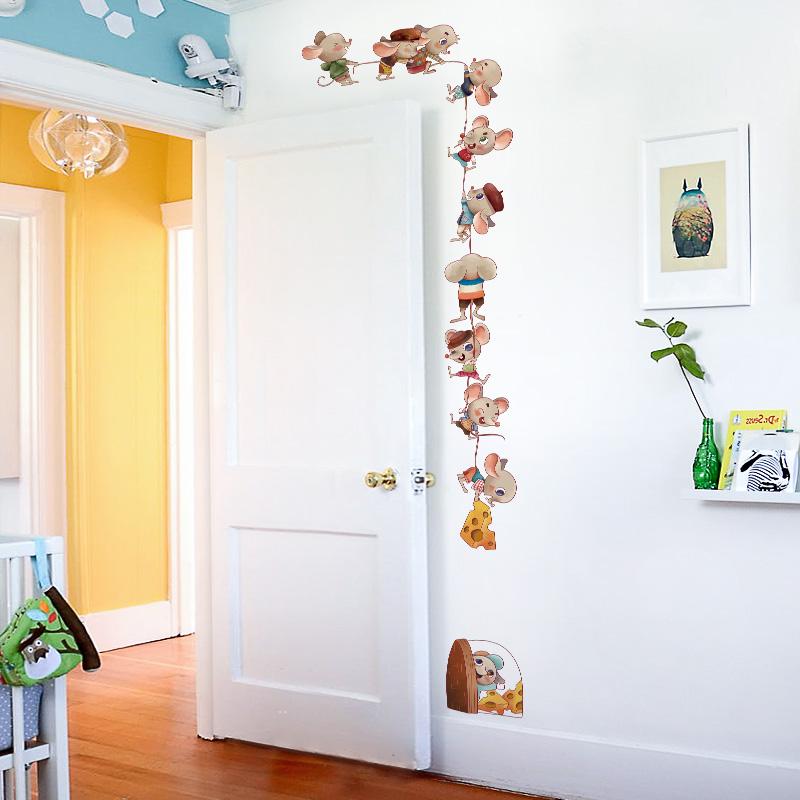 门贴自粘卧室墙纸壁纸儿童房墙面装饰贴画个性创意房间布置贴门纸