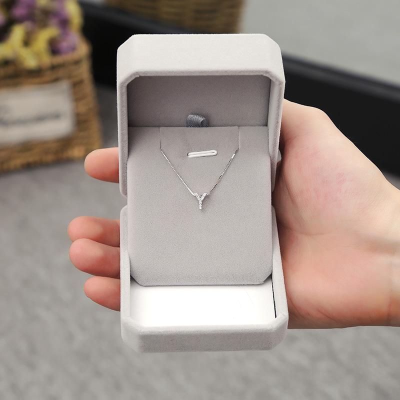 [小姐芙银饰铺项链]设计感简约字母Y锁骨链纯银韩国时尚个月销量179件仅售49元