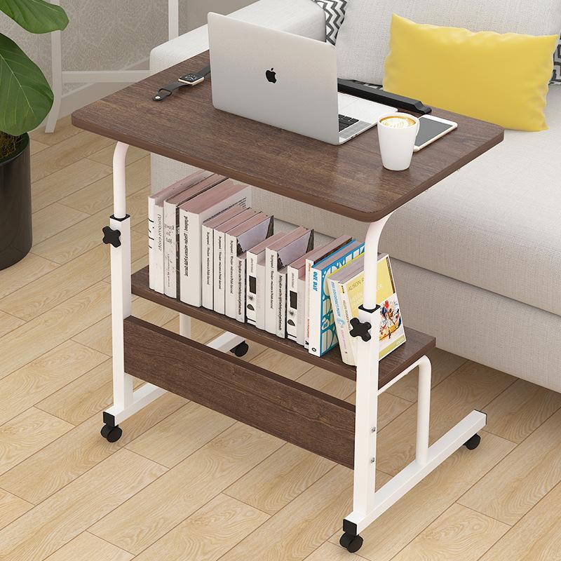 多功能移动床上的宿舍小桌子滑轮可折叠书桌床旁桌大学生升降带轮热销12件假一赔三