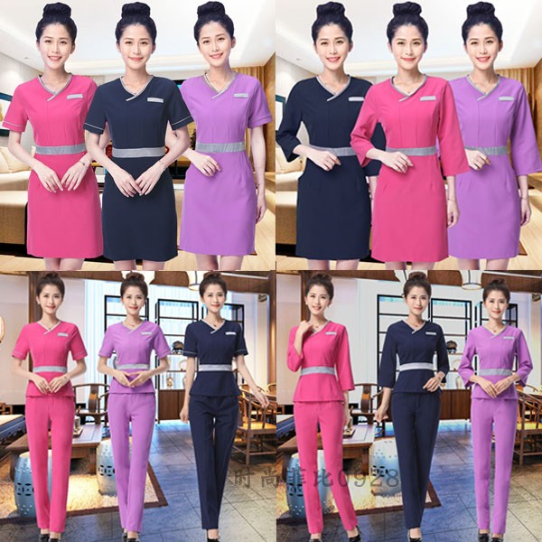 Beauticians work clothes womens summer Beauty Salon Spa Beauty Salon work clothes uniform dress autumn and winter clothes