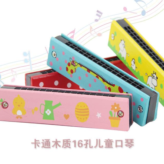 儿童口琴初学木质16孔吹奏乐器幼儿园小学生音乐玩具迷你口风琴