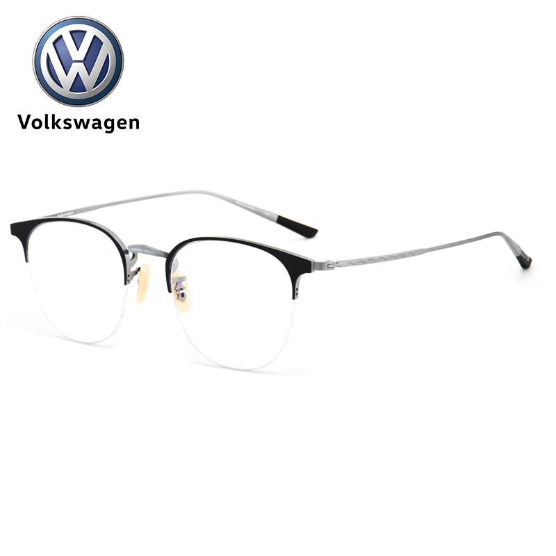 Volkswagen Volkswagen ultra light myopia with finished spectacle frame pure titanium spectacle frame mens and womens half frame glasses