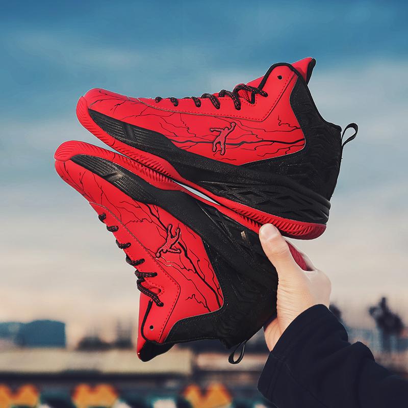 乔丹格兰男鞋秋冬季休闲运动鞋子学生男式防滑耐磨篮球鞋高帮潮鞋