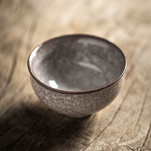 Longquan Celadon Kiln Ice Crack Tea Cup Iron-tyred Handmade Master Cup Single Cup Ceramic Kungfu Teaware Small Cup