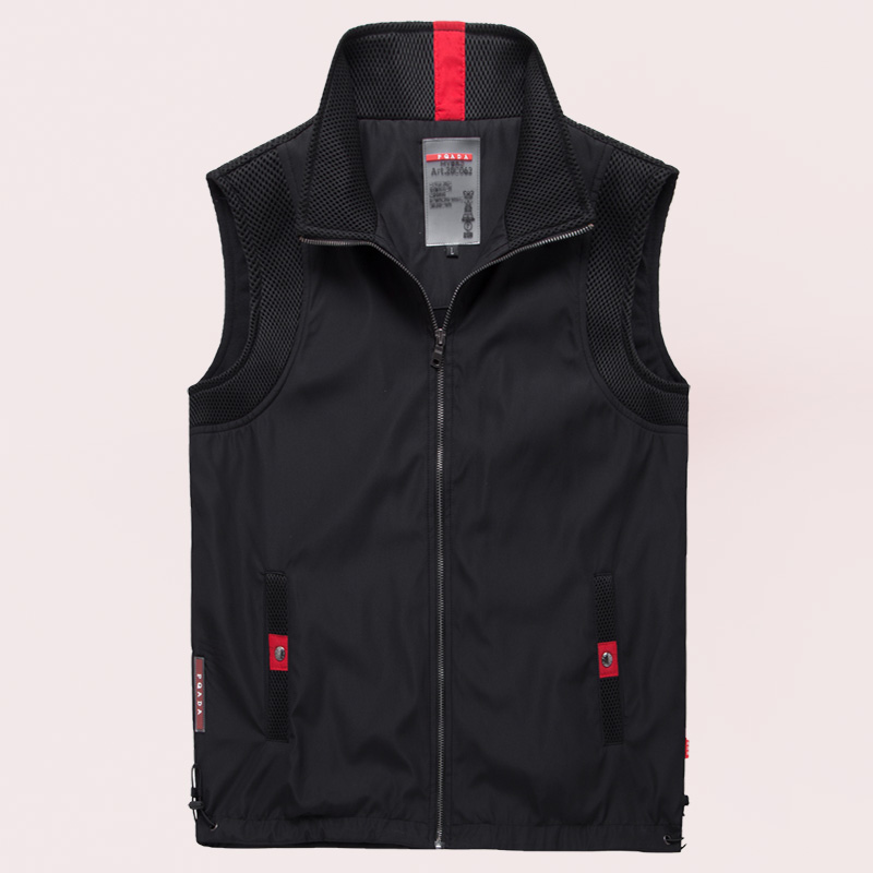 Casual vest mens thin spring and autumn mens Vest soft shell outdoor sports vest coat trend sleeveless waistcoat men