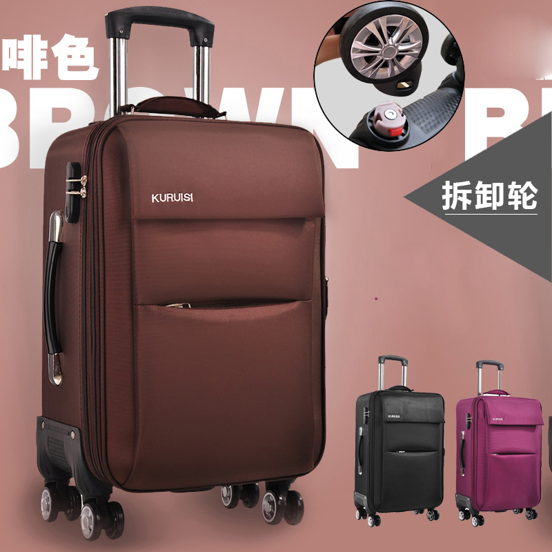 Special price suitcase female and male student password Trolley Case universal wheel 24 cloth leather case 20 inch large capacity luggage